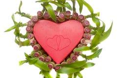 Lucky Bamboo heart shape Royalty Free Stock Photos