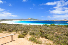 Lucky Bay Cape Le Grand. Overlooking Lucky Bay in Cape Le Grand National Park near Esperance Western Australia stock photo