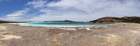 Lucky bay panorama stock photos