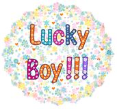 Lucky Boy - design de carte illustration libre de droits
