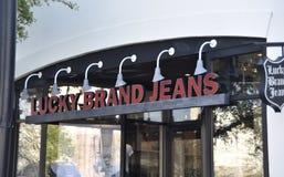 Lucky Brand Jeans foto de archivo libre de regalías