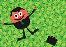 Lucky Businessman Cartoon Stock Afbeeldingen