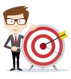 Lucky businessman at the target Stock Photos