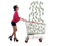 Lucky businesswoman Royalty Free Stock Photo