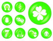 Lucky buttons set Stock Images