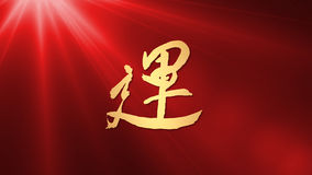 Lucky calligraphy chinese new year Light Stock Photography