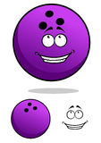 Lucky cartooned bowling ball Stock Image