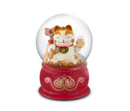 The lucky cat. The Crystal Ball of lucky cat Royalty Free Stock Photo