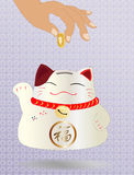 Lucky cat illustration Royalty Free Stock Photography