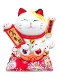 Lucky Cat. Japanese ceramic cartoon lucky cat stock images