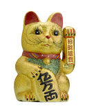 Lucky cat maneki neko. Lucky cat on white background royalty free stock photo