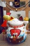 Lucky cat (Maneki neko) statue. Hong Kong stock image
