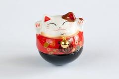 Lucky Cat. Maneki Neko - Lucky Cat in White Background Royalty Free Stock Image