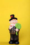 Lucky charm with chimney-sweep. Lucky charm for new year with chimney-sweep Stock Image