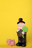 Lucky charm with chimney-sweep. Lucky charm for new year with chimney-sweep Stock Images