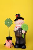 Lucky charm with chimney-sweep. Lucky charm for new year with chimney-sweep Royalty Free Stock Photography