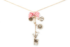 Lucky charm necklace. Isolated on white Stock Images