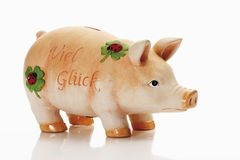 Lucky charm piggy bank Stock Photography