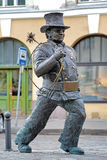 Lucky Chimney Sweeper sculpture in Tallinn, Estonia royalty free stock photo