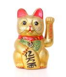 Lucky Chinese Cat op wit wordt geïsoleerd dat Royalty-vrije Stock Afbeelding