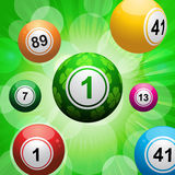 Lucky clover bingo ball burst Royalty Free Stock Image