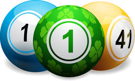 Lucky clover bingo ball on white Royalty Free Stock Images