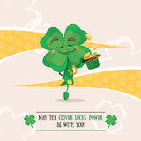 Lucky clover dancing irish dance Stock Photo