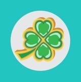Lucky clover  flat icon Stock Photo