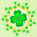 Lucky clover illustration Stock Photography
