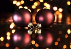Lucky Clover per il Natale Fotografia Stock