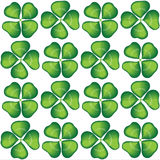 Lucky clover seamless Stock Photography