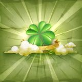 Lucky Clover vector background Royalty Free Stock Photography