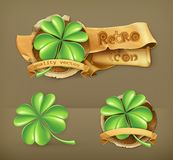 Lucky Clover, vector icons Royalty Free Stock Images