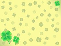 Lucky Clover Wallpaper Stock Photography