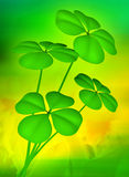 Lucky clovers illustration background Royalty Free Stock Photo