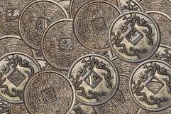 Lucky coins Royalty Free Stock Image