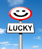 Lucky concept. Royalty Free Stock Photo