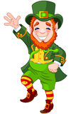 Lucky Dancing Leprechaun Stock Photo