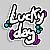 Lucky day sticker Royalty Free Stock Images
