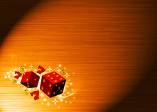 Lucky dice. Abstract color lucky dice background with space Stock Images