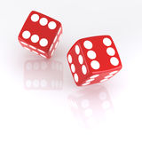 Lucky Dice. All six. Digitally Generated Image. Isolated On White Stock Photo