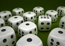 Lucky dice Stock Photography