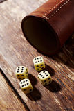 Lucky dice on table Royalty Free Stock Photo