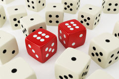 Lucky dices. 3d rendered image of lucky dices royalty free illustration