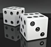 Lucky dices Royalty Free Stock Images