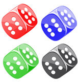 Lucky dices many color vector set royalty free illustration