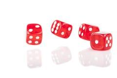 Lucky Dices vermelho imagem de stock royalty free