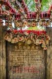 Lucky Dongba Aspiration Windbell in alter Stadt Shuhe, Yunnan China lizenzfreies stockbild
