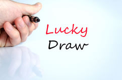 Lucky draw text concept Royalty Free Stock Images