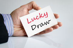 Lucky draw text concept Stock Photography